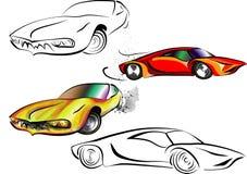 αθλητικό διάνυσμα πλέγματος αυτοκινήτων απεικόνιση αποθεμάτων