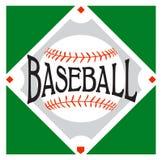 Αθλητικό λογότυπο μπέιζ-μπώλ Στοκ Εικόνες