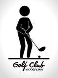 Αθλητικό παιχνίδι γκολφ κλαμπ γραφικό Στοκ φωτογραφίες με δικαίωμα ελεύθερης χρήσης