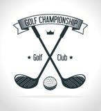 Αθλητικό παιχνίδι γκολφ κλαμπ γραφικό Στοκ φωτογραφία με δικαίωμα ελεύθερης χρήσης
