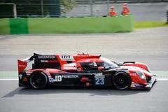 Αθλητικό πρωτότυπο Ligier ανταγωνισμού Barthez Panis Στοκ εικόνες με δικαίωμα ελεύθερης χρήσης