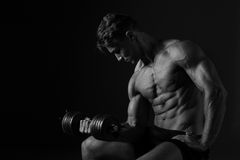Αθλητικό υπόβαθρο Workout δικέφαλων μυών Στοκ Εικόνες
