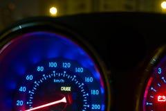 αθλητικό όχημα ταχύτητας δέρματος αυτοκινήτων στο εσωτερικό εσωτερικό Στοκ Εικόνες