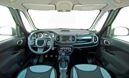 αθλητικό όχημα ταχύτητας δέρματος αυτοκινήτων στο εσωτερικό εσωτερικό Στοκ φωτογραφίες με δικαίωμα ελεύθερης χρήσης