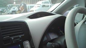 αθλητικό όχημα ταχύτητας δέρματος αυτοκινήτων στο εσωτερικό εσωτερικό Στοκ εικόνα με δικαίωμα ελεύθερης χρήσης