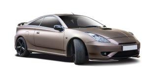 Αθλητικό coupe αυτοκίνητο που απομονώνεται στο λευκό Στοκ Εικόνα