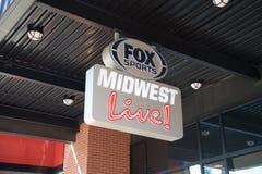 Αθλητικό Midwest αλεπούδων ζωντανό σημάδι Στοκ Φωτογραφία