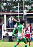 Αθλητισμός ατόμων ενηλίκων, αγώνας ποδοσφαίρου Στοκ Φωτογραφία