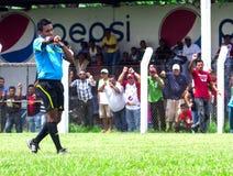 Αθλητισμός ατόμων ενηλίκων, αγώνας ποδοσφαίρου Στοκ Εικόνες