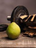 Αθλητισμός ικανότητας και φρέσκα τρόφιμα, έννοια υγειονομικής περίθαλψης Στοκ φωτογραφία με δικαίωμα ελεύθερης χρήσης