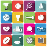 Αθλητισμός και καθορισμένη απεικόνιση eps10 εικονιδίων χρηματοδότησης Στοκ φωτογραφία με δικαίωμα ελεύθερης χρήσης