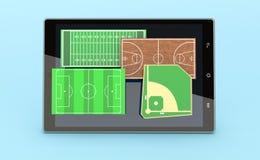 Αθλητισμός και νέα τεχνολογία επικοινωνιών Στοκ Εικόνες