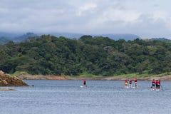 Αθλητισμός νερού Arenal στη λίμνη Στοκ Εικόνες
