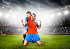 αθλητισμός ποδοσφαίρου φορέων χαρακτηρών κινουμένων σχεδίων Στοκ φωτογραφίες με δικαίωμα ελεύθερης χρήσης
