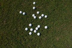 αθλητισμός σειράς γκολφ παιχνιδιών σφαιρών ανασκόπησης Στοκ Εικόνες