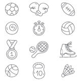 αθλητισμός τα εύκολα εικονίδια ανασκόπησης αντικαθιστούν το διαφανές διάνυσμα σκιών Στοκ εικόνα με δικαίωμα ελεύθερης χρήσης