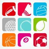 Αθλητισμός balls1 Στοκ Εικόνες