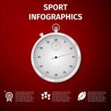 Αθλητισμός Infographics στοκ εικόνες με δικαίωμα ελεύθερης χρήσης