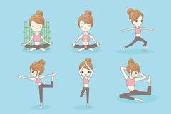 Αθλητισμός woman do yoga Στοκ Φωτογραφία