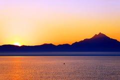 αιγαία θάλασσα βουνών athos Στοκ Εικόνα