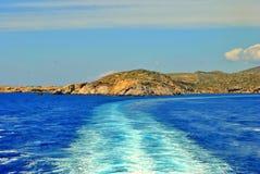 αιγαία μπλε θάλασσα Στοκ Φωτογραφίες