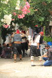 Αιγαία περιοχή - νησί Tenedos, κοστούμια των κινηματογράφων ιστορίας αγάπης «τελευταίων επιστολών» δράστες και Στοκ Εικόνα