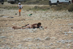 Αιγαία περιοχή - νησί Tenedos, παραλία ενυδρείων στοκ εικόνα με δικαίωμα ελεύθερης χρήσης
