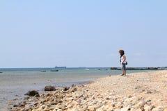 Αιγαία περιοχή - νησί Tenedos, παραλία ενυδρείων στοκ φωτογραφίες