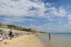 Αιγαία περιοχή - νησί Tenedos, παραλία Ayazma στοκ φωτογραφίες με δικαίωμα ελεύθερης χρήσης