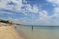Αιγαία περιοχή - νησί Tenedos, παραλία Ayazma στοκ εικόνα