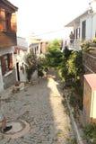 Αιγαία περιοχή - νησί Tenedos, τέχνη, στα καταστήματα, σπίτια στοκ εικόνα με δικαίωμα ελεύθερης χρήσης