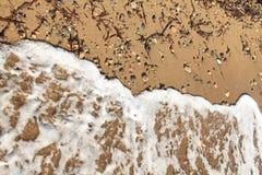 Αιγαία περιοχή, παραλία, ειρήνη και κύματα στοκ φωτογραφία