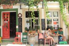 Αιγαία περιοχή - παραδοσιακό κατάστημα στοκ εικόνες