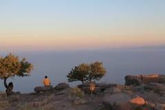 Αιγαία περιοχή - Assos Castle, ηλιοβασίλεμα στο ναό Αθηνάς, στοκ φωτογραφίες με δικαίωμα ελεύθερης χρήσης
