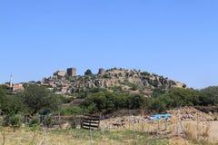 Αιγαία περιοχή - Assos Castle, ναός Αθηνάς, στοκ φωτογραφία με δικαίωμα ελεύθερης χρήσης