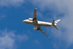 Αιγαίο airbus A320-232 αερογραμμών Στοκ εικόνες με δικαίωμα ελεύθερης χρήσης