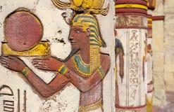 Αιγυπτιακά έργα ζωγραφικής τοίχων στοκ φωτογραφίες με δικαίωμα ελεύθερης χρήσης