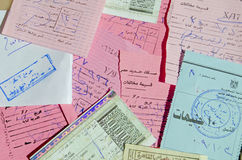 Αιγυπτιακά εισιτήρια τραίνων Στοκ φωτογραφία με δικαίωμα ελεύθερης χρήσης