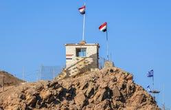 Αιγυπτιακά σύνορα σε Taba στοκ εικόνα με δικαίωμα ελεύθερης χρήσης