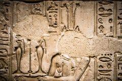 αιγυπτιακά hieroglyphs Στοκ Φωτογραφίες