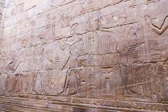 Αιγυπτιακές επιγραφές στο ναό - Αίγυπτος Στοκ Εικόνες