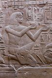 Αιγυπτιακές επιγραφές στο ναό - Αίγυπτος Στοκ Εικόνα