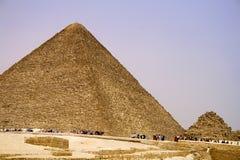 αιγυπτιακές μεγάλες πυραμίδες Στοκ εικόνα με δικαίωμα ελεύθερης χρήσης