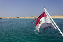 Αιγυπτιακές flad και θάλασσα Στοκ φωτογραφία με δικαίωμα ελεύθερης χρήσης