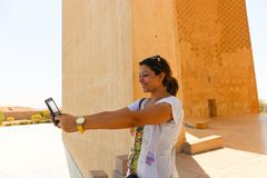 Αιγυπτιακή γυναίκα selfy Στοκ Εικόνες