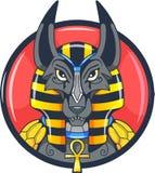 Αιγυπτιακή διανυσματική εικόνα anubis Θεών Στοκ Εικόνες