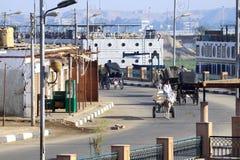 Αιγυπτιακή πόλη Aswan Στοκ εικόνες με δικαίωμα ελεύθερης χρήσης