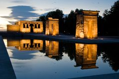αιγυπτιακός ναός panorame Στοκ εικόνα με δικαίωμα ελεύθερης χρήσης