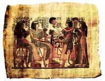 αιγυπτιακός πάπυρος ζωγ& Στοκ εικόνα με δικαίωμα ελεύθερης χρήσης