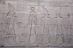 Αιγυπτιακός τοίχος ναών Στοκ εικόνες με δικαίωμα ελεύθερης χρήσης